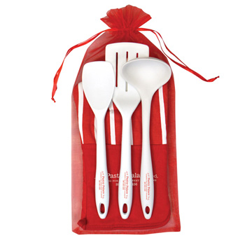 Chef'S Therma-Grip Striped Oven Mitt Silicone Utensils Combo